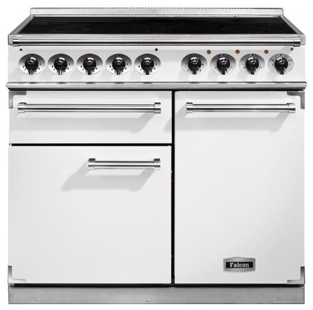 falcon 1000 deluxe range cooker with induction hob range. Black Bedroom Furniture Sets. Home Design Ideas