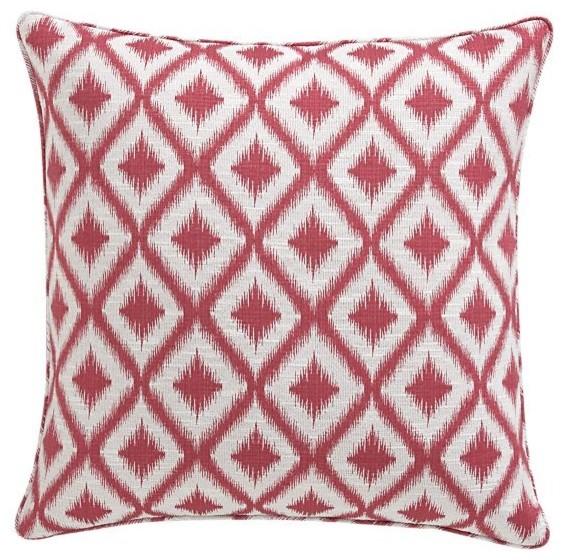 "Ibiza Raspberry 23"" Pillow mediterranean-decorative-pillows"