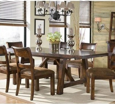Woodland Ridge Trestel Dining Table modern-dining-tables