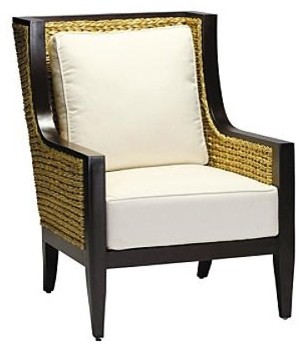 Aqua Outdoor Lounge Chair with Squared Cushion - Frontgate, Patio Furniture traditional-outdoor-cushions-and-pillows