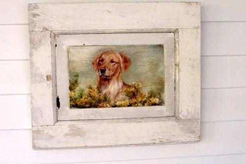 Golden Retriever In Flowers farmhouse-pet-supplies