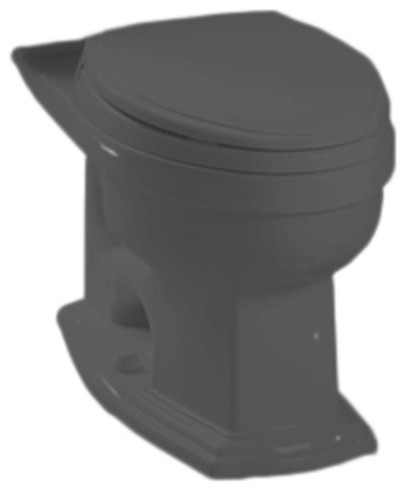 Toto C784EF#51 Ebony Eco Clayton Elongated Toilet Bowl Only, 1.28 GPF ADA transitional-toilet-accessories