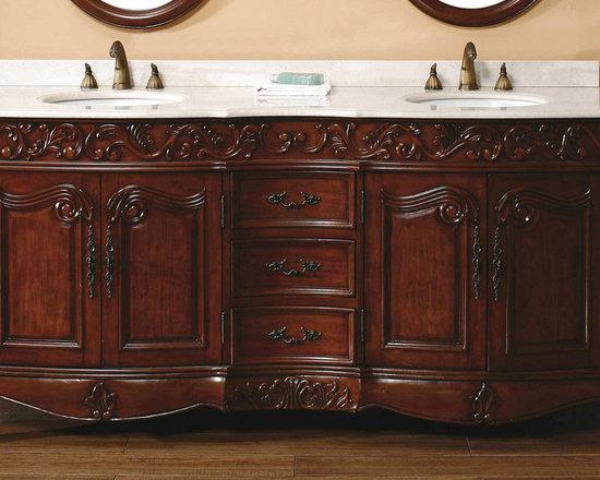 "Ornate and Antique Bathroom Vanities - James Martin Solid Wood 72"" Baymount Bathroom Double vanity with a Countertop 206-001-5510 - HomeThangs.com"