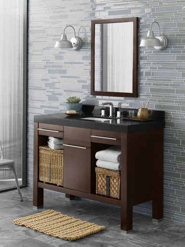 Ronbow Contempo 033748-H01 contemporary bathroom vanities and sink consoles