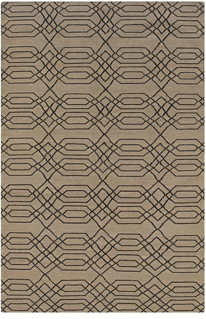 Contemporary Swing 2'x3' Rectangle Beige Area Rug contemporary-rugs
