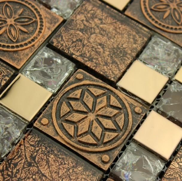 Stainless Steel Mosaic Tiles Glass mosaic tile backsplash mosaic tiles SSMT189 modern-mosaic-tile