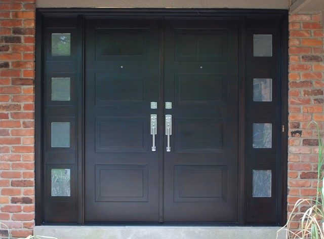 Modern Front Entry Doors in African Mahogany modern-front-doors