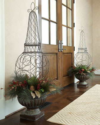 Pear Fruit & Berry Arrangement in Urn traditional-holiday-decorations