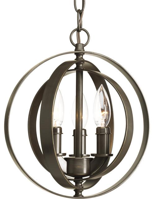 Progress Lighting Equinox Three-Light Sphere Pendant modern-pendant-lighting