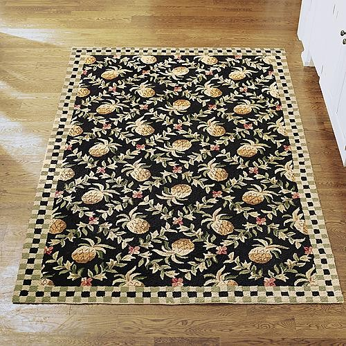 Pineapple Wool Area Rug