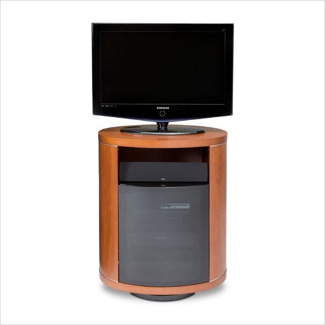 Bdi Revo Wood 37 Swivel Tv Stand In Natural Stained