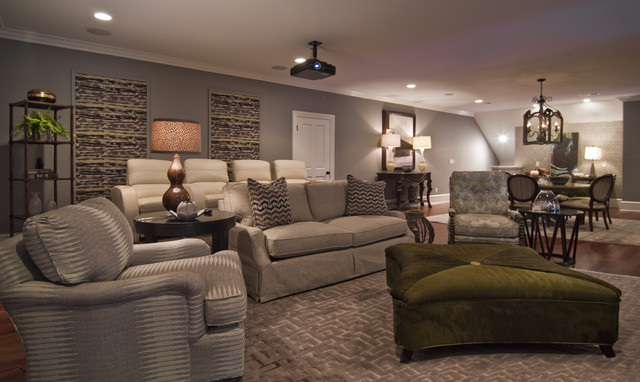 Home Theater - modern - media room - charlotte - by Kelly Cruz ...