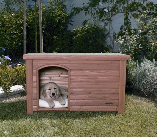 Outback log cabin dog house in cedar rustic dog houses by