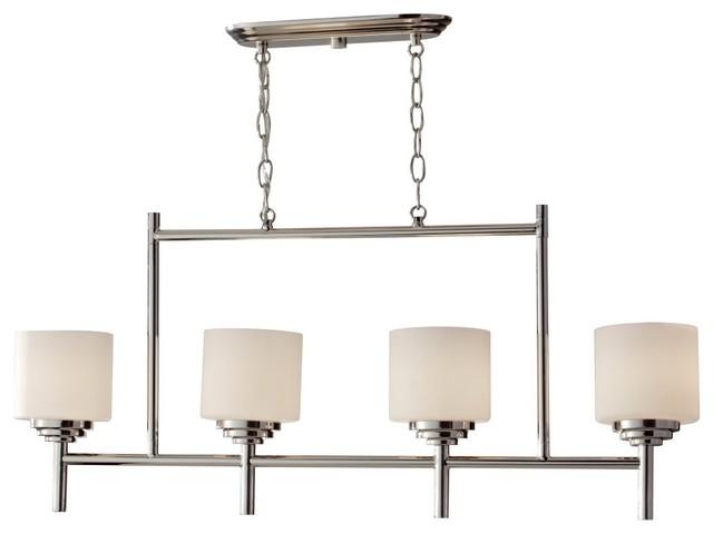 Murray Feiss Malibu Chandelier - 5.06W in. Polished Nickel modern-chandeliers