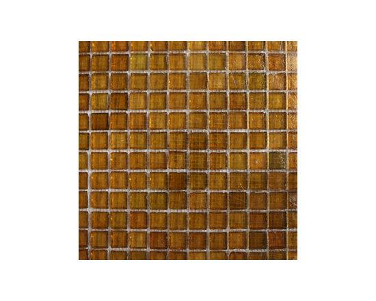 Amber Polished Glass Mosaic -