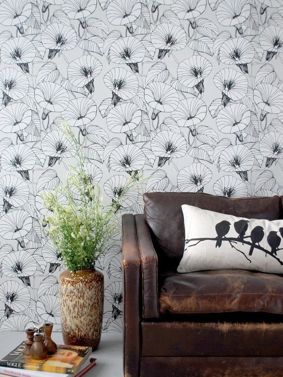 Ferm Living Bindweed Wallpaper - Ferm Living's Wallpaper is graphic & whimsical adding character, charm and personality to any room. Wallpaper has a striking effect and will without a doubt turn your room into a sanctuary.