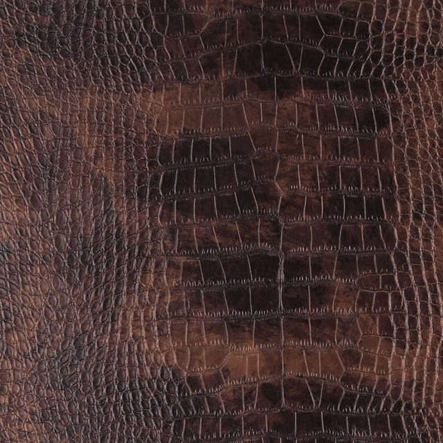 Copper Metallic Alligator Faux Leather Vinyl By The Yard