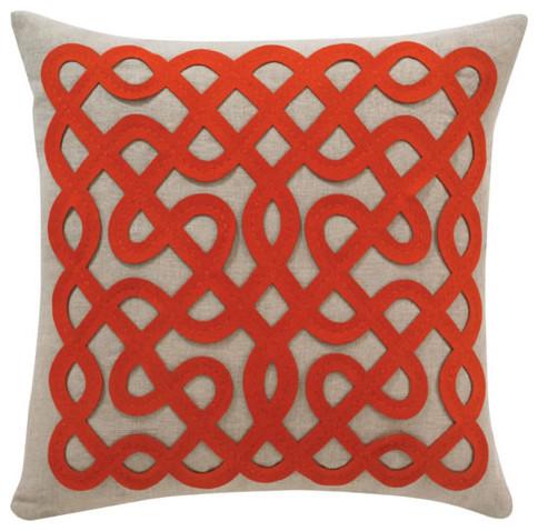 DwellStudio Labyrinth Persimmon Pillow modern-pillows