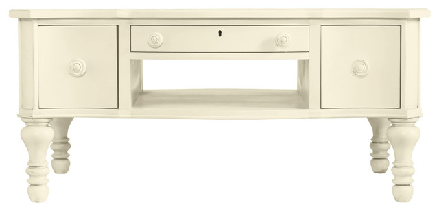 Coastal Living Cottage Storage Coffee Table With Three Drawers Contemporary Coffee Tables