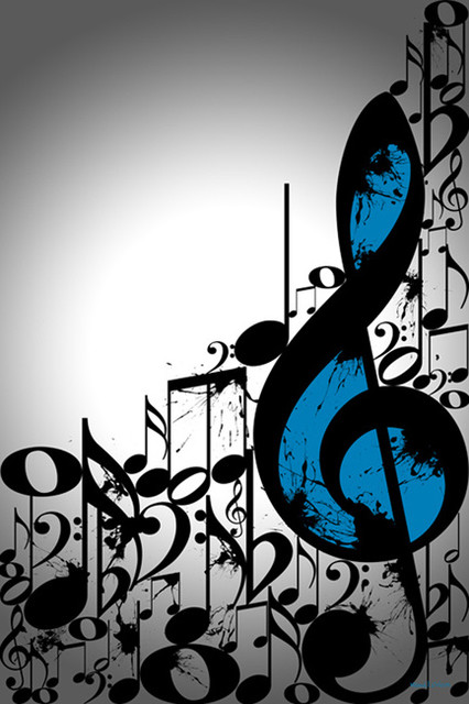 Maxwell Dickson 39 Music Notes 39 Typography Wall Art