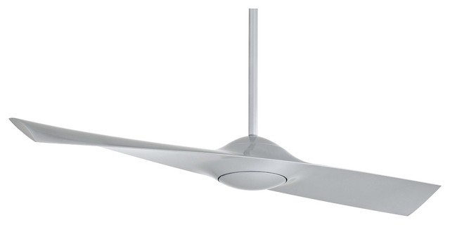 """Contemporary 52"""" Minka Aire Wing Silver Ceiling Fan contemporary-ceiling-fans"""