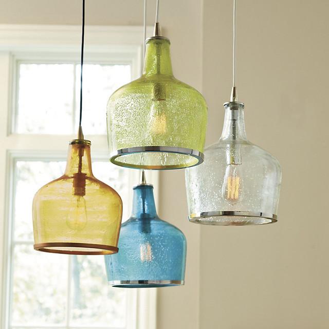 Addie pendant aqua traditional pendant lighting by ballard designs - Traditional pendant lighting for kitchen ...