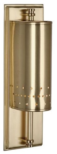 Robert Abbey Milo Small Sconce In Natural Brass traditional-wall-lighting