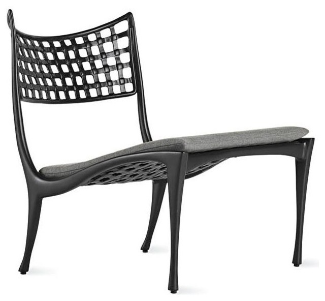 Sol y luna armless lounge chair modern outdoor chaise for Armless chaise longue