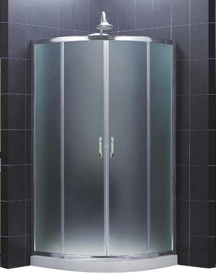 "DreamLine Prime 36 3/8"" by 36 3/8"" Frameless Sliding Shower Enclosure contemporary-showerheads-and-body-sprays"