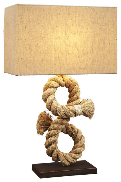 nautical rope table lamp beach style table lamps by natural. Black Bedroom Furniture Sets. Home Design Ideas