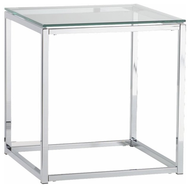 Glass Top Side Table CB2 contemporary side tables and accent tables