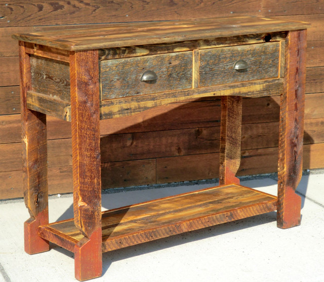 Rustic Furniture Portfolio - traditional - side tables and accent ...