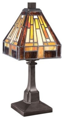 Quoizel Stephen TF1018TVB Table Lamp - 6.5W in. - Vintage Bronze modern-table-lamps