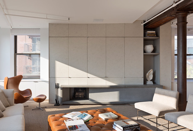 Meatpacking Loft - modern - fireplaces - new york - by Leone ...