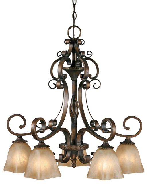 Meridian 5 Light Nook Chandelier traditional-chandeliers