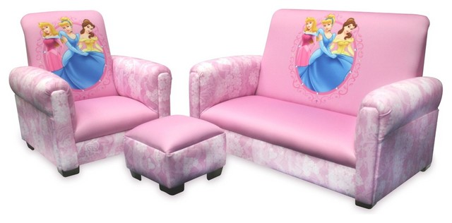 Disney Princess Hearts And Crowns Toddler Sofa Chair and  : contemporary kids chairs from www.houzz.com size 640 x 316 jpeg 35kB