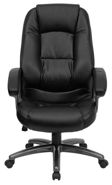 High Back Black Leather Executive Office Chair modern-task-chairs