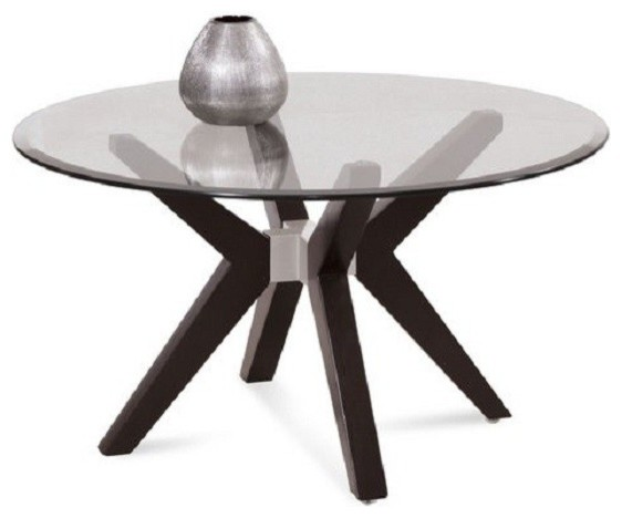 Bassett Mirror Round Cocktail Table T2082 120 033 Traditional Coffee Tables Salt Lake