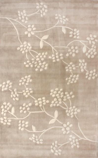 "Contemporary Cine 7'6""x9'6"" Rectangle Sandstone Area Rug contemporary-rugs"