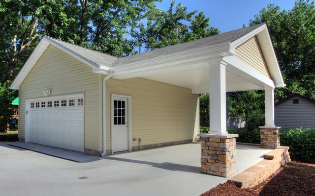 Adding A Carport To Garage Contemporary Garage And