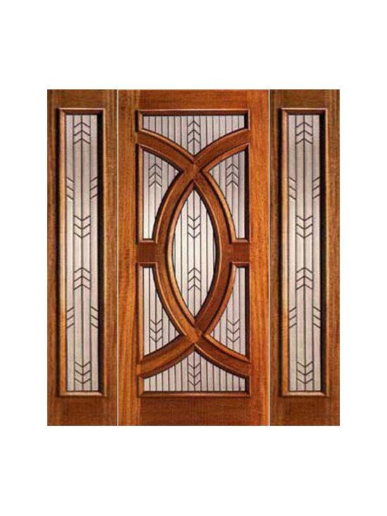 """Mahogany Prehung Single Door and 2 Sidelites, Triple Glazed, Circle - SKU#PL-01_1-2BrandAAWDoor TypeExteriorManufacturer CollectionBudget DoorsDoor ModelDoor MaterialWoodWoodgrainMahoganyVeneerPrice2760Door Size Options[30""""+2(12"""") x 80""""] (4'-6"""" x 6'-8"""")  $0[36""""+2(12"""") x 80""""] (5'-0"""" x 6'-8"""")  +$20[30""""+2(12"""") x 96""""] (4'-6"""" x 8'-0"""")  +$520[36""""+2(12"""") x 96""""] (5'-0"""" x 8'-0"""")  +$540Core TypeSolidDoor StyleCircle , ModernDoor Lite StyleRadius LiteDoor Panel StyleHome Style MatchingContemporary , VictorianDoor ConstructionEngineered Stiles and RailsPrehanging OptionsPrehungPrehung ConfigurationDoor with Two SidelitesDoor Thickness (Inches)1.75Glass Thickness (Inches)3/4Glass TypeTriple GlazedGlass CamingBlackGlass FeaturesTempered , Insulated , BeveledGlass StyleGlue ChipGlass TextureGlass ObscurityDoor FeaturesDoor ApprovalsDoor FinishesDoor AccessoriesWeight (lbs)850Crating Size25"""" (w)x 108"""" (l)x 52"""" (h)Lead TimeSlab Doors: 7 daysPrehung:14 daysPrefinished, PreHung:21 daysWarranty"""
