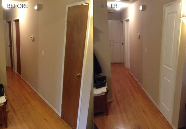 Before and After Transformations - Modern - Hall - sacramento - by HomeStory Easy Door Installation