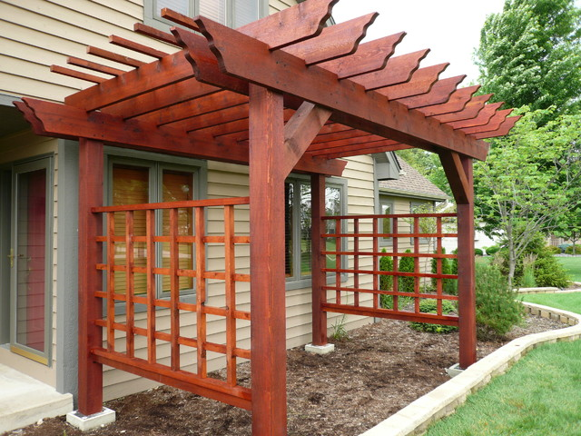 Pergola asian pergolas arbors and trellises chicago for Japanese garden structures wood