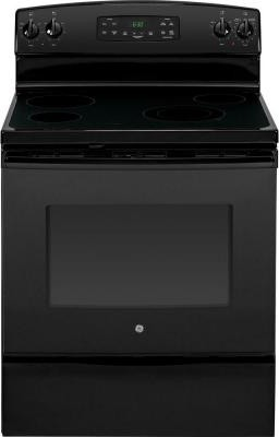 GE Range. 5.3 cu. ft. Electric Range with Self-Cleaning Oven in Black JB630DFBB contemporary-gas-ranges-and-electric-ranges