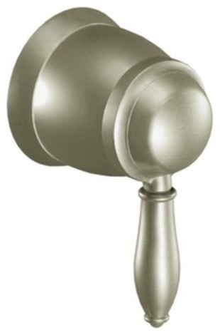Moen TS52104BN Brushed Nickel Weymouth Single Handle Volume Control contemporary-books