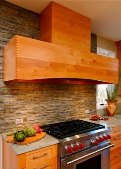 Modern Alder wood kitchen featuring Greenfield Cabinetry contemporary-kitchen