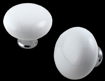 White Porcelain Round Door Knobs traditional-cabinet-and-drawer-knobs