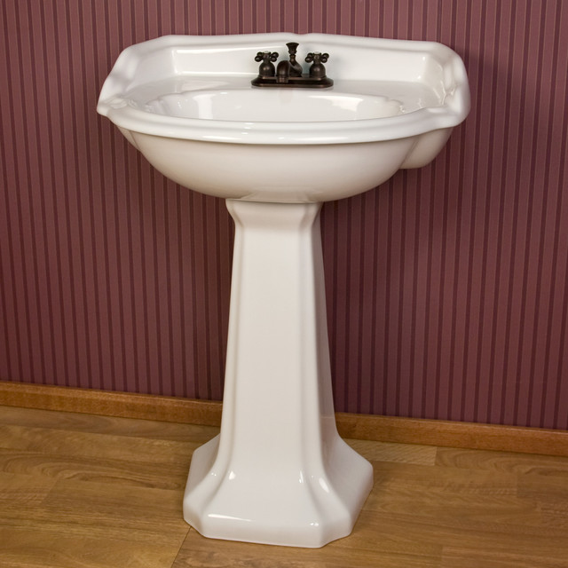 Bathroom Sink Mirror : Kendra Pedestal Sink - Contemporary - Bathroom Sinks