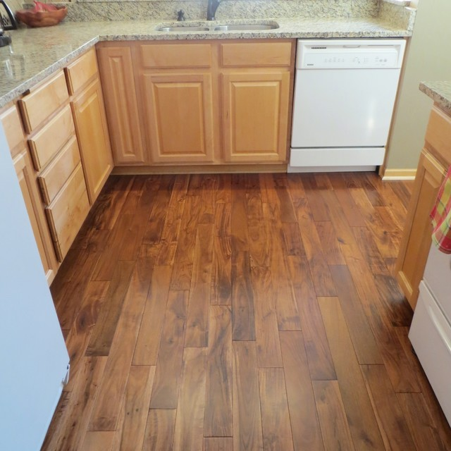 Acacia Asian Walnut Bronze Smooth Hardwood Flooring traditional