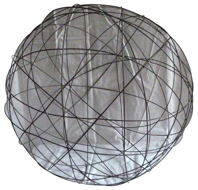 Pre owned large decorative wire sphere contemporary